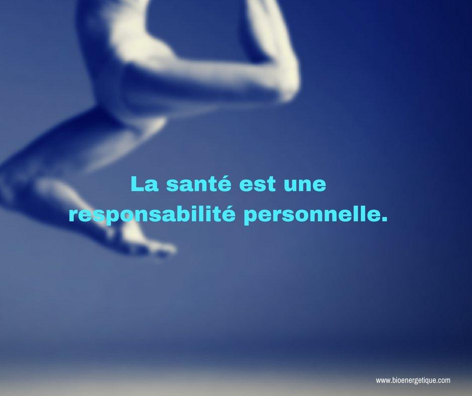 La santé est une responsabilité personnelle